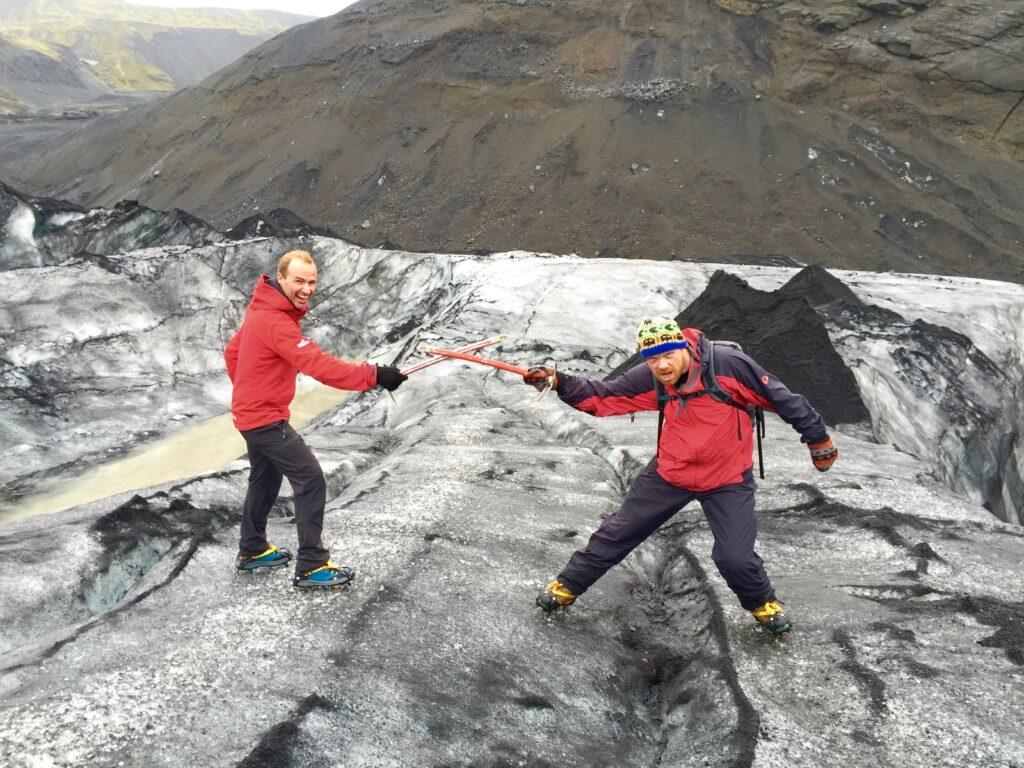 Glaciar Islandia. Vikingos en liza.