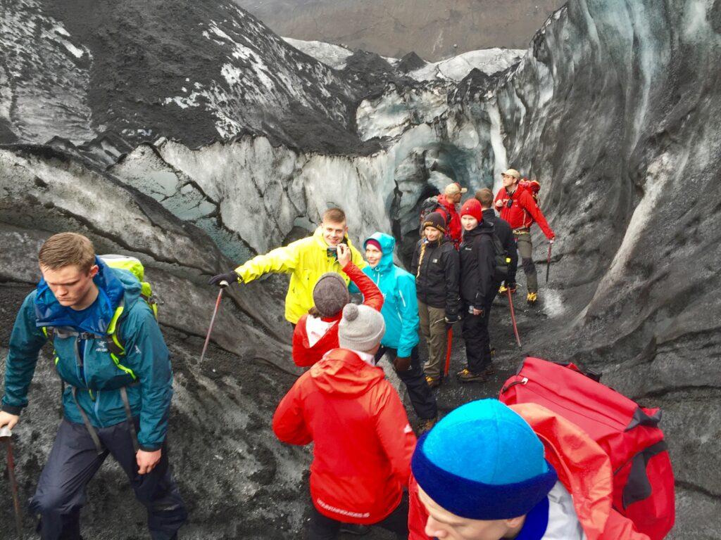 Glaciar Islandia. Sólo, al sur de la isla.